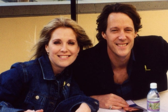 Melissa Reeves as seen in a picture along with Matthew Ashford at Fan Fest 03