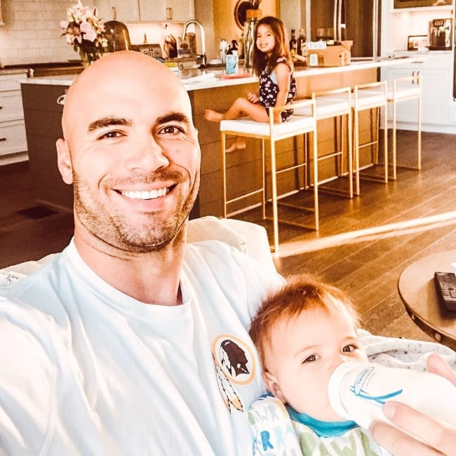 Mike Caussin as seen while taking a selfie with his kids