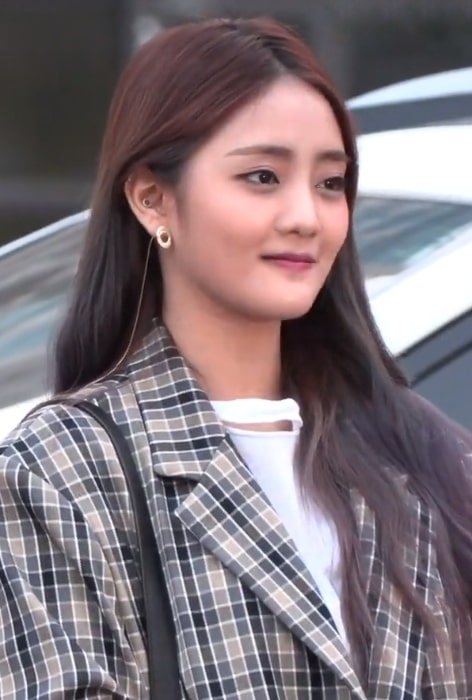 Minnie as seen in a picture taken at Music Bank on March 7, 2019