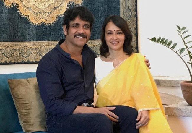 Nagarjuna Akkineni and Amala Akkineni as seen in September 2017