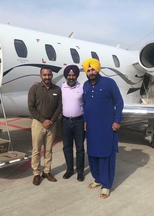 Navjot Singh Sidhu as seen in a picture taken in Chhattisgarh in April 2019