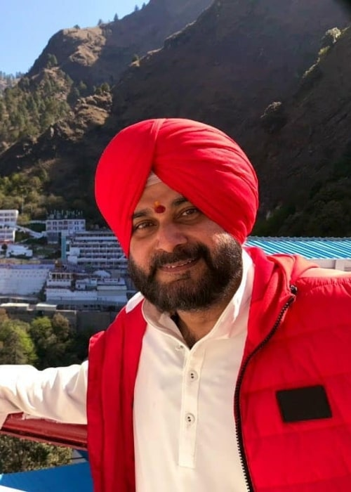 Navjot Singh Sidhu as seen in a picture taken in Shri Mata Vaishno Devi Shrine Board, Katra, J & K. in April 2019