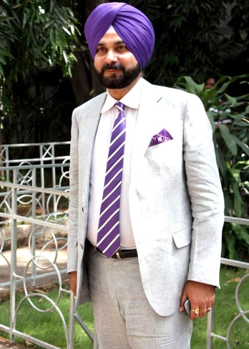 Navjot Singh Sidhu as seen in a picture taken on the sets of Sony Max on May 7, 2012