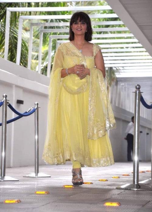 Neeta Lulla as seen in a picture taken at Esha Deol's mehendi ceremony on July 4, 2012