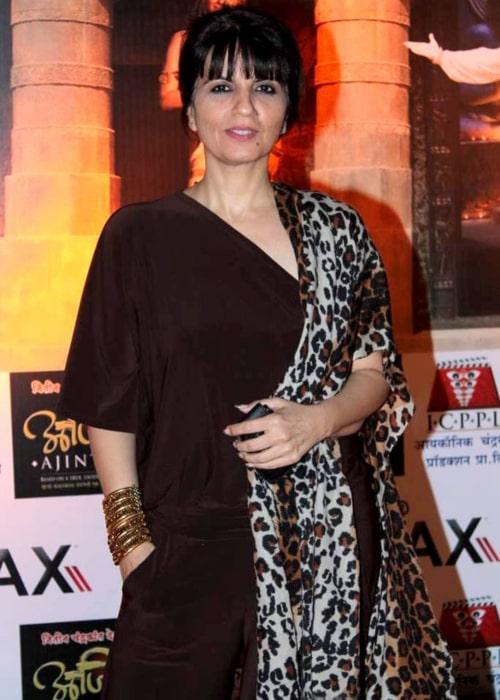 Neeta Lulla as seen in a picture taken at the premier of Marathi film Ajinta on May 16, 2012
