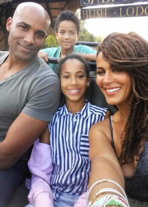 Nicole Ari Parker with her family as seen in May 2019