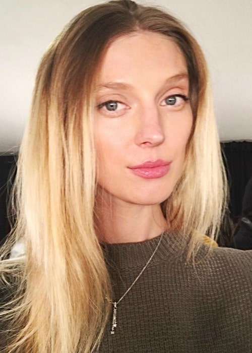 Olga Sherer in an Instagram selfie as seen in February 2019