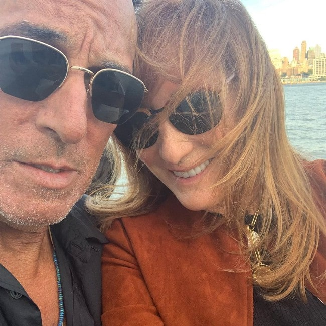 Patti Scialfa with her husband as seen in September 2019