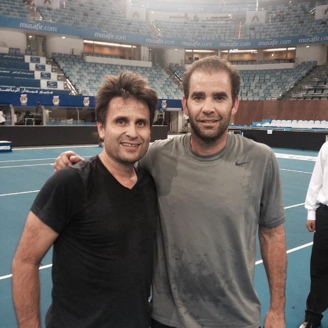 Pete Sampras with his friend as seen in August 2015