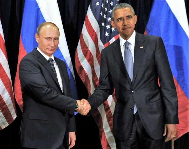 President Vladimir Putin (Left) and the President of the United States of America Barack Obama as they held a bilateral meeting on the sidelines of the UN General Assembly in September 2015
