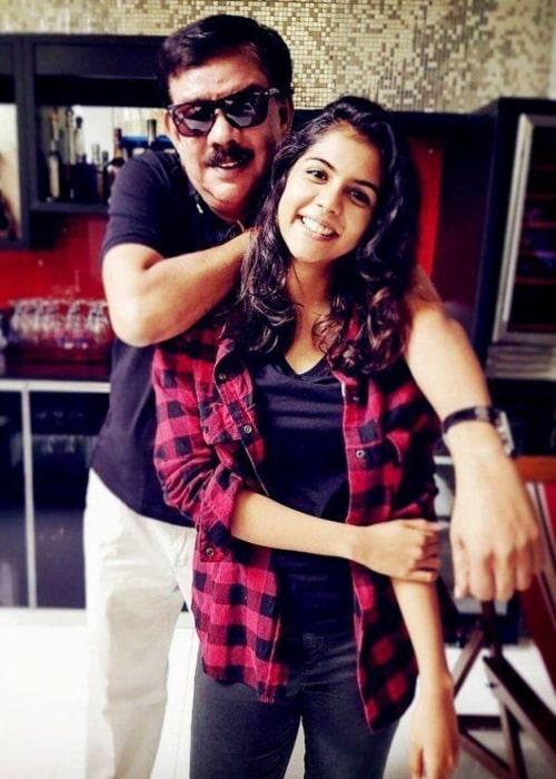 Priyadarshan as seen in as seen in a picture with his daughter Kalyani Priyadarshan