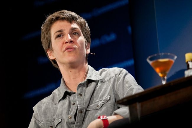 Rachel Maddow seen during her book tour for Drift in 2012