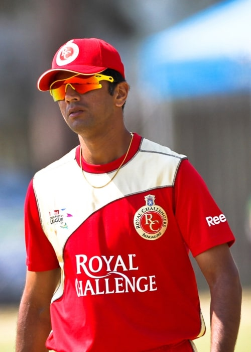 Rahul Dravid as seen in a picture taken during a match while he played for the Royal Challengers Bangalore in January 2000