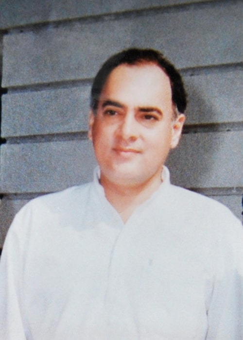 Rajiv Gandhi as seen in a picture taken 7, Race course road in 1988