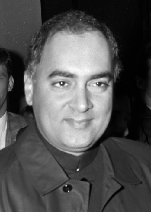 Rajiv Gandhi as seen in a picture taken at the Amsterdam Airport Schiphol in Netherlands on October 21, 1949