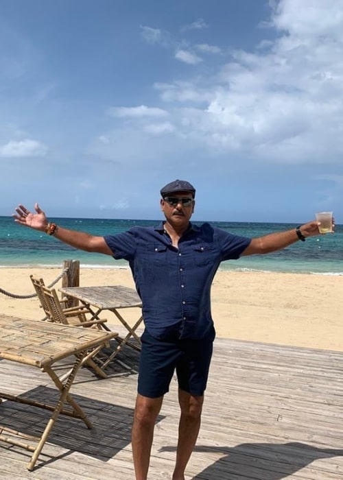 Ravi Shastri as seen in a picture taken in Jamaica in September 2019
