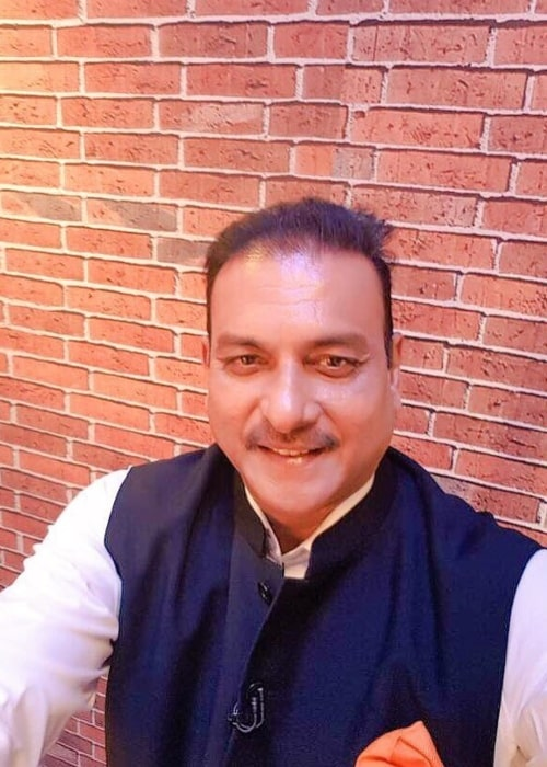 Ravi Shastri as seen in a selfie taken in May 2017