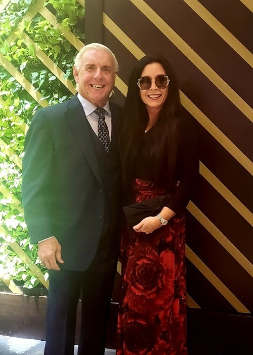 Ric Flair with his wife Wendy as seen in December 2019