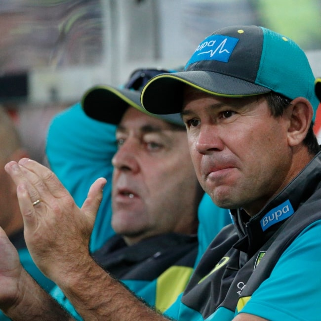 Ricky Ponting as seen in a picture taken during the 2017-18 Trans-Tasman Tri-Series on February 23, 2018