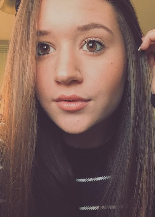 Riley Lewis as seen in a selfie taken in December 2018