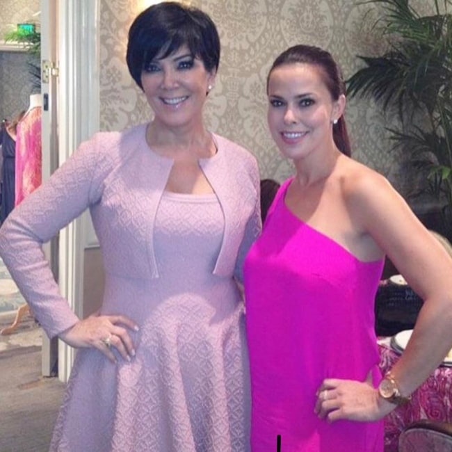 Rosa Blasi (Right) as seen while posing for a picture alongside Kris Jenner