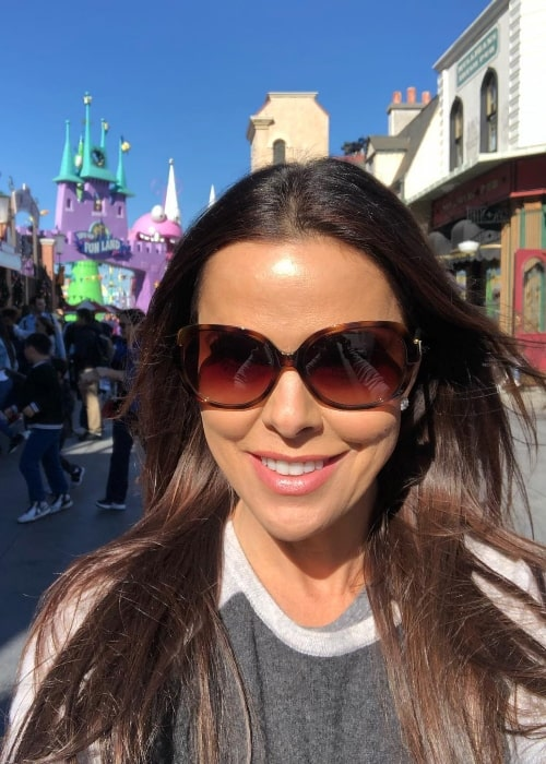 Rosa Blasi as seen while taking a selfie at Universal Studios Hollywood in Universal City, California, United States in January 2019