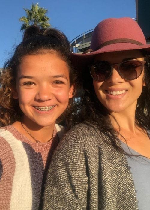Rykel Bennett as seen in a picture along with her mother Rachel Bennett in November 2019