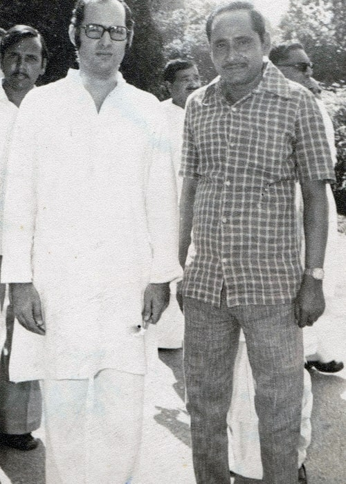 Sanjay Gandhi as seen in a picture with Shaikh Shamim Ahmed in New Delhi