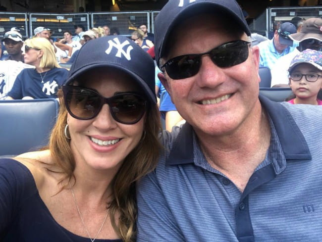 Sara Carter and Martin Bailey in a selfie in August 2019