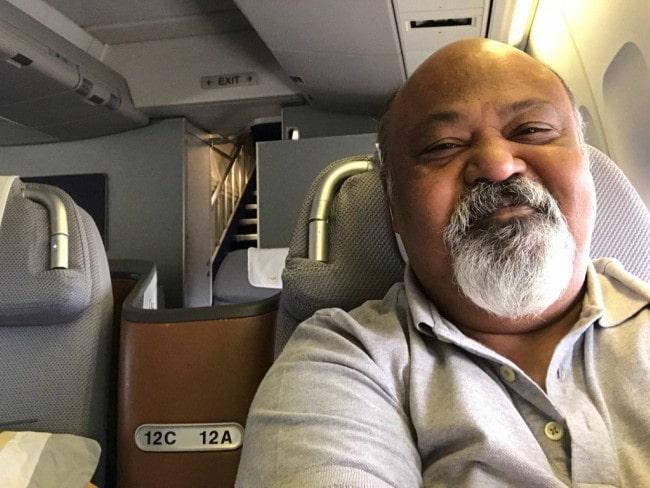 Saurabh Shukla in a selfie as seen in March 2017