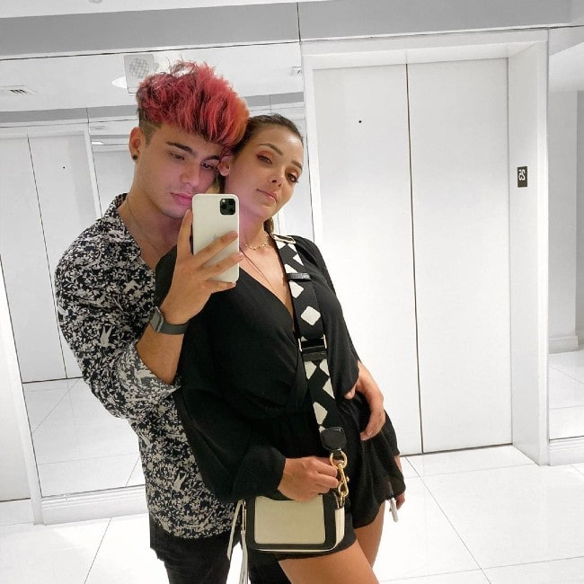 Sebastian Villalobos with his girlfriend Maria Laura as seen in October 2019