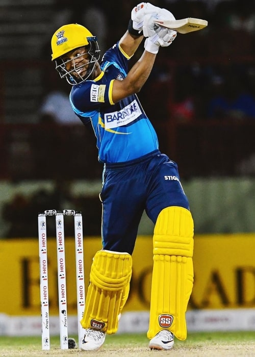 Shai Hope as seen in a picture taken while playing a match for the Barbados Tridents at Georgetown, Guyana during the Caribbean Premier League in 2019