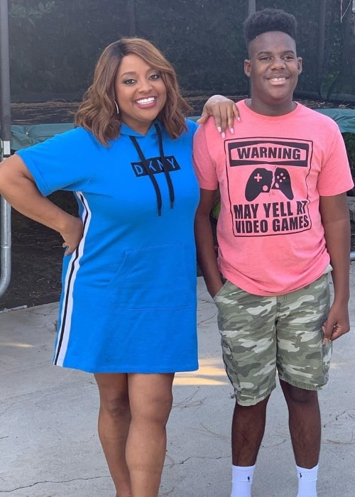 Sherri Shepherd as seen while smiling in a picture along with her son