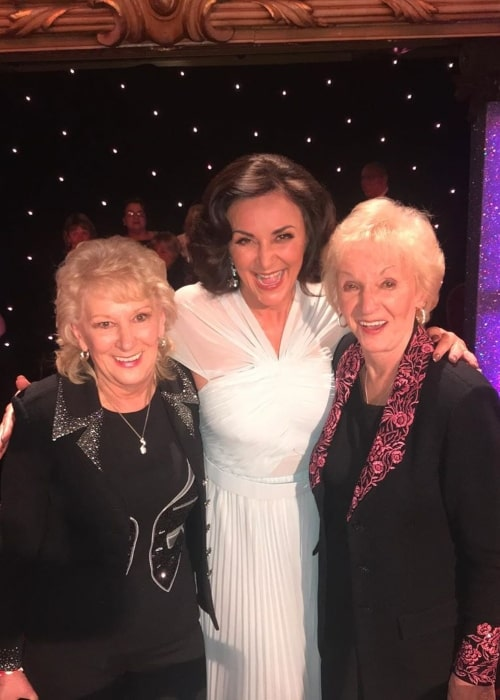 Shirley as seen in a picture her mother Audrey and her aunt Sheila on the set of Strictly Come Dancing in November 2019