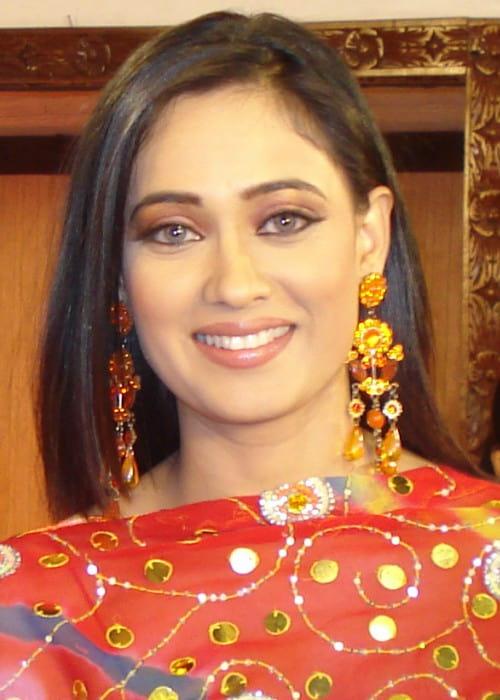 Shweta Tiwari at the sets of Bhojpuri movie Trinetra in May 2009