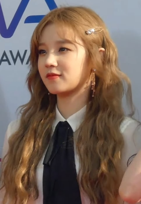 Song Yuqi as seen at The Fact Music Awards on April 24, 2019