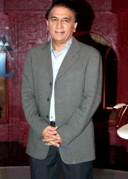 Sunil Gavaskar as seen in a picture taken on the set of Sony Max on August 10, 2012