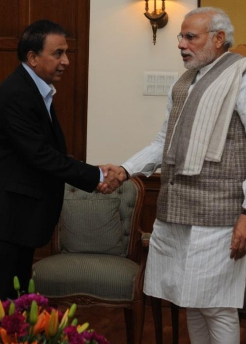 Sunil Gavaskar as seen in a picture with Prime Minister Narendra Modi taken on December 6, 2014