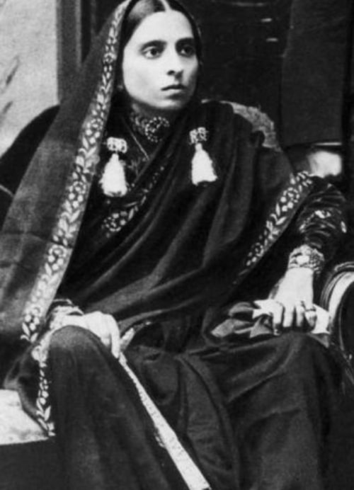 Swarup Rani Nehru as seen in a picture taken in 1894