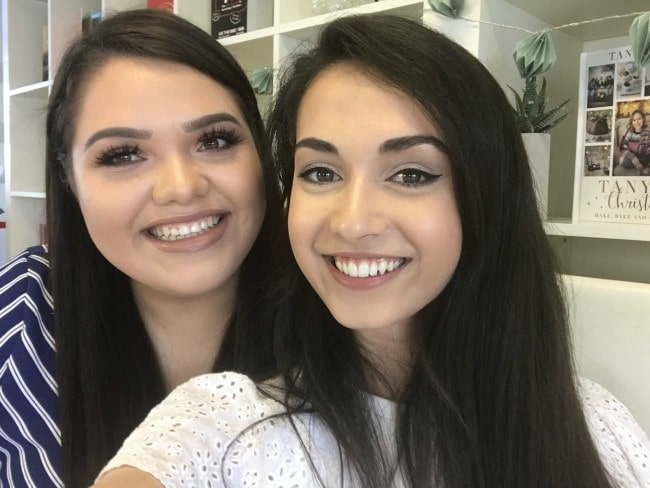 Talisa Tossell (Right) and Karina in a selfie in June 2018