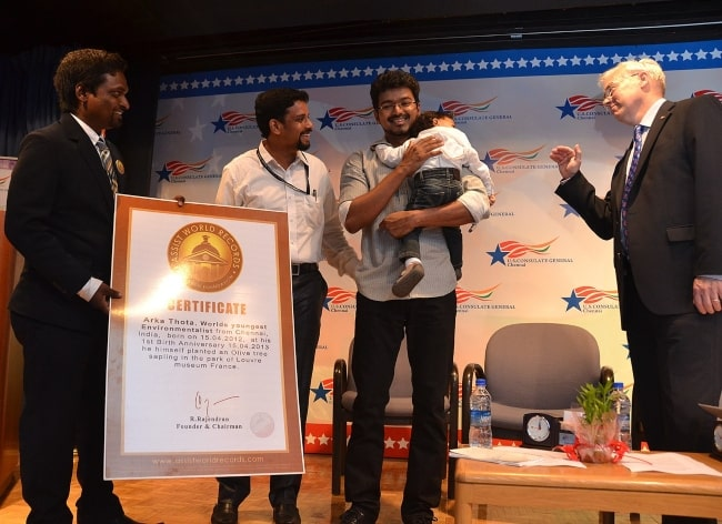 Tamil Film actor Joseph Vijay Celebrating World Environment Day