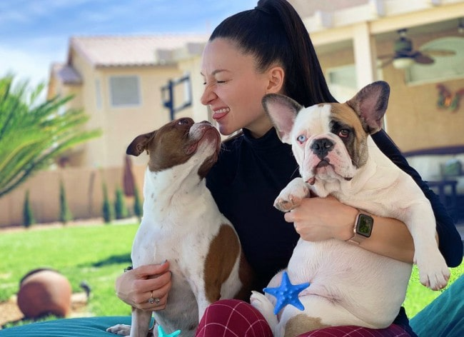 TerraDiASMR with her dogs as seen in May 2019