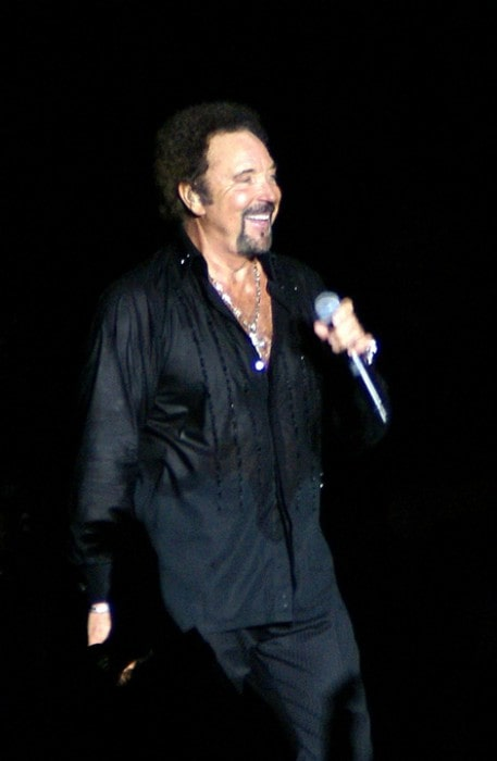 Tom Jones at Hampton Court Palace in June 2007