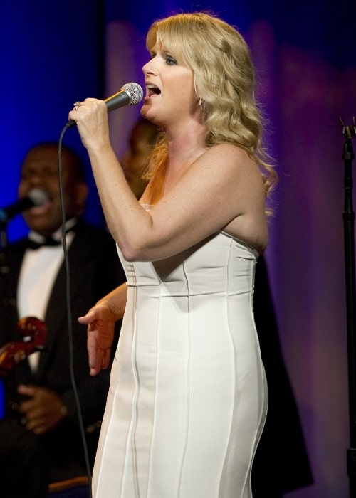 Trisha Yearwood as seen in a picture during her performance at the USO Gala in Washington D.C. in Oct 2010