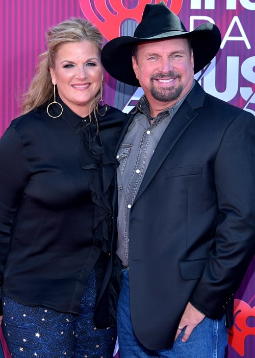 Trisha Yearwood as seen in a picture with her husband Garth Brooks at the 2019 iHeart Music Awards in Los Angeles, California