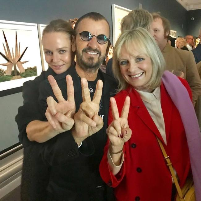 Twiggy seen with musician Ringo Starr and designer Stella McCartney in September 2019