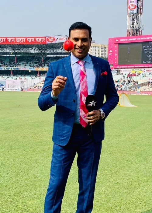 VVS Laxman as seen in a picture taken at the Saurashtra Cricket Association Stadium in November 2019