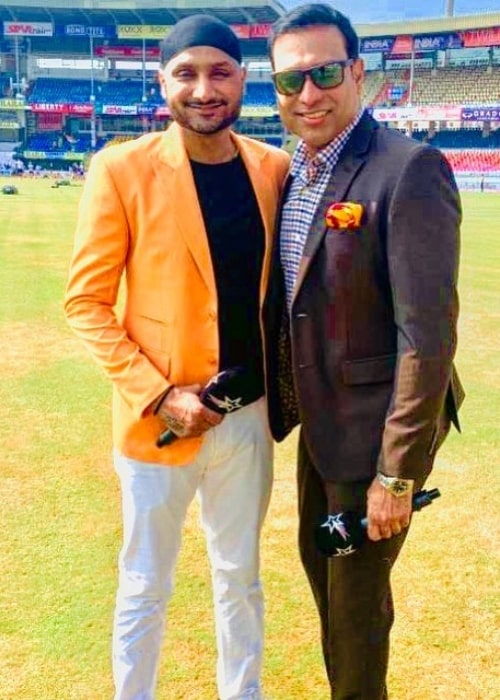 VVS Laxman as seen in a picture with former cricketer Harbajan Singh in October 2019