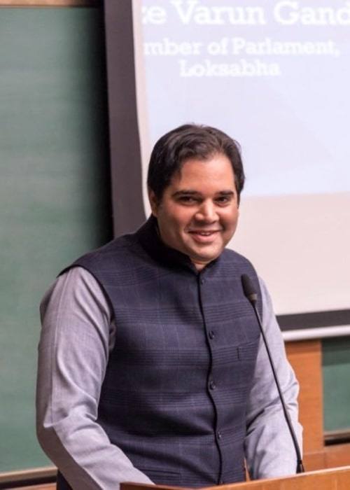Varun Gandhi as seen in a picture taken in during his 14 part lecture-series at IIM Ahmedabad on his book A Rural Manifesto_ Realizing India's Future through her Villages in November 2018