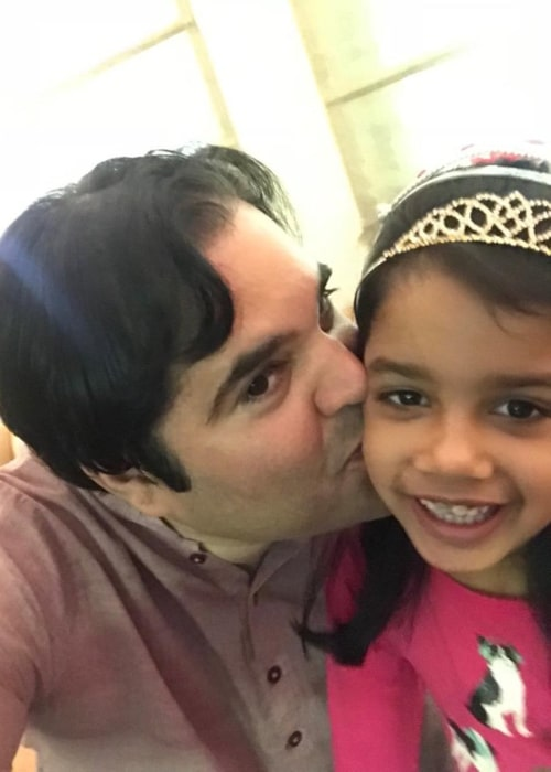 Varun Gandhi as seen in a selfie taken with his daughter Anasuyaa Gandhi on father's day in June 2019